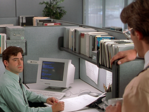 Fotogramma da Office Space - di Mike Judge